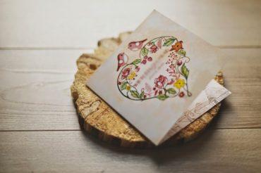 Zaproszenie Vintage Heart
