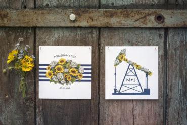 Śląskie zaproszenie z kwiatami! Górnicze motywy i słoneczniki na nowym projekcie!