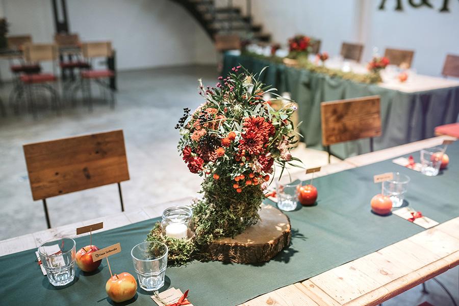 dekoracja stołu gości