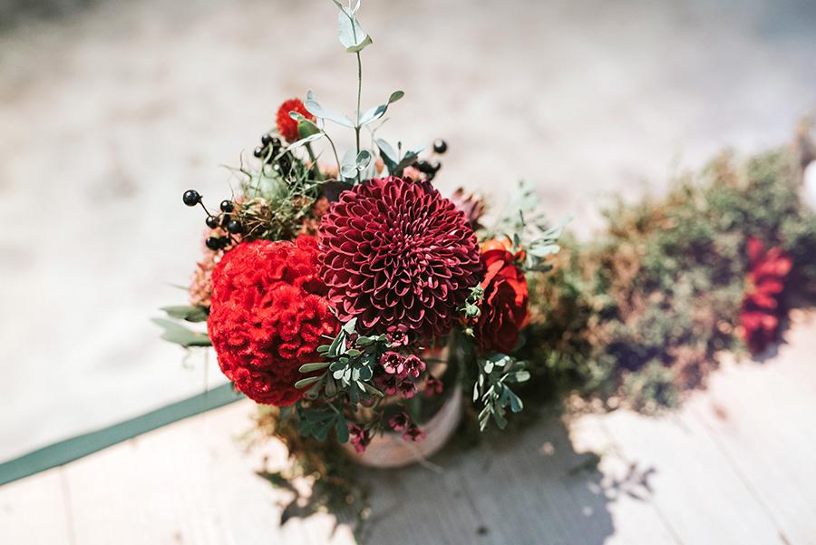 detale dekoracji kwiatowej
