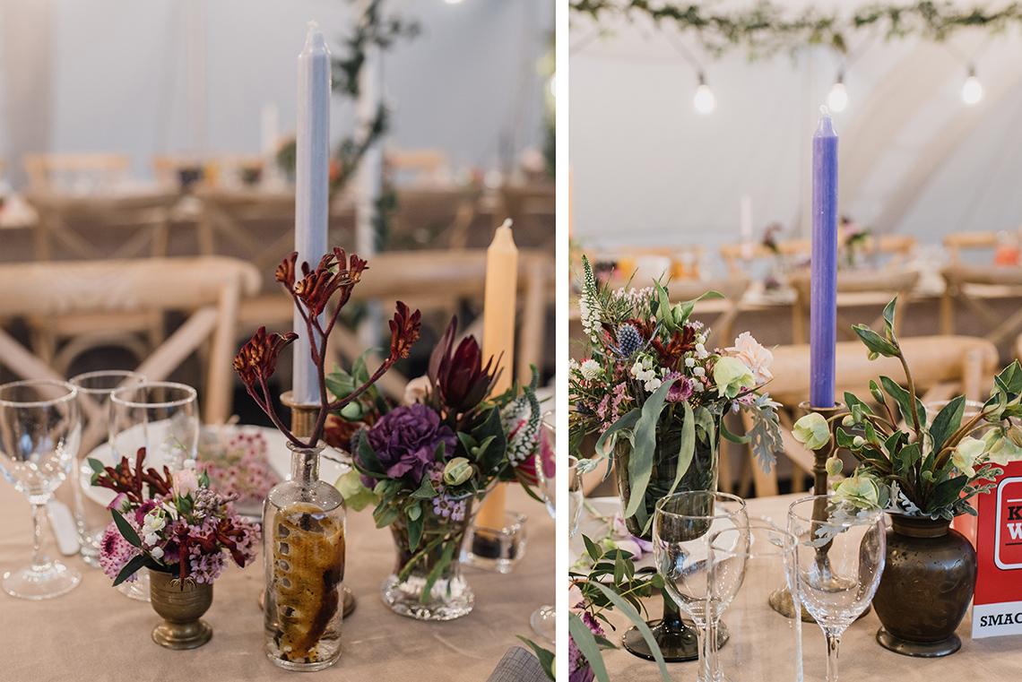 eklektyczne zestawy naczyń na stołach