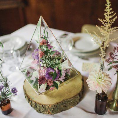 kwiaty na wesele boho