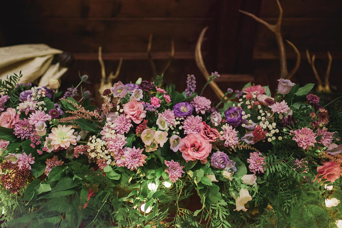 kwiatowy detal dekoracji boho