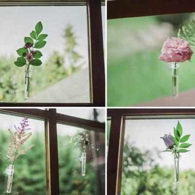 kwiaty w oknie w willi Tadeusz