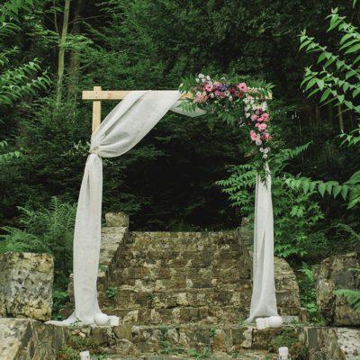 brama ślubna w willi Tadeusz w Lanckoronie