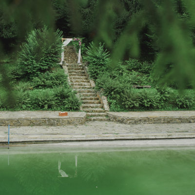 dekoracja nad basenem w Willi Tadeusz