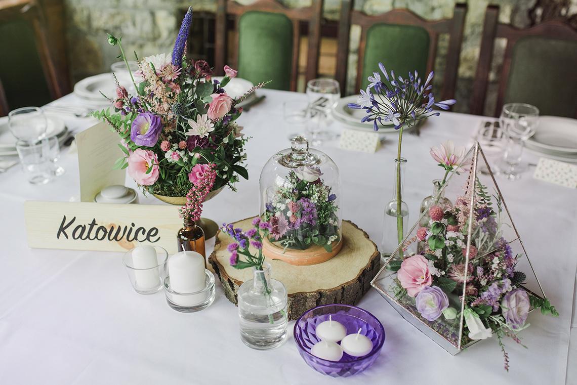 dekoracja stołu weselnego boho