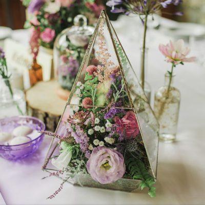 terrarium z kwiatami