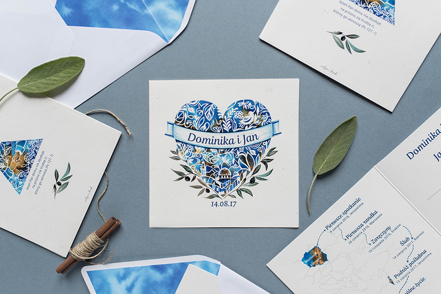 zaproszenie ślubne wraz z dodatkami