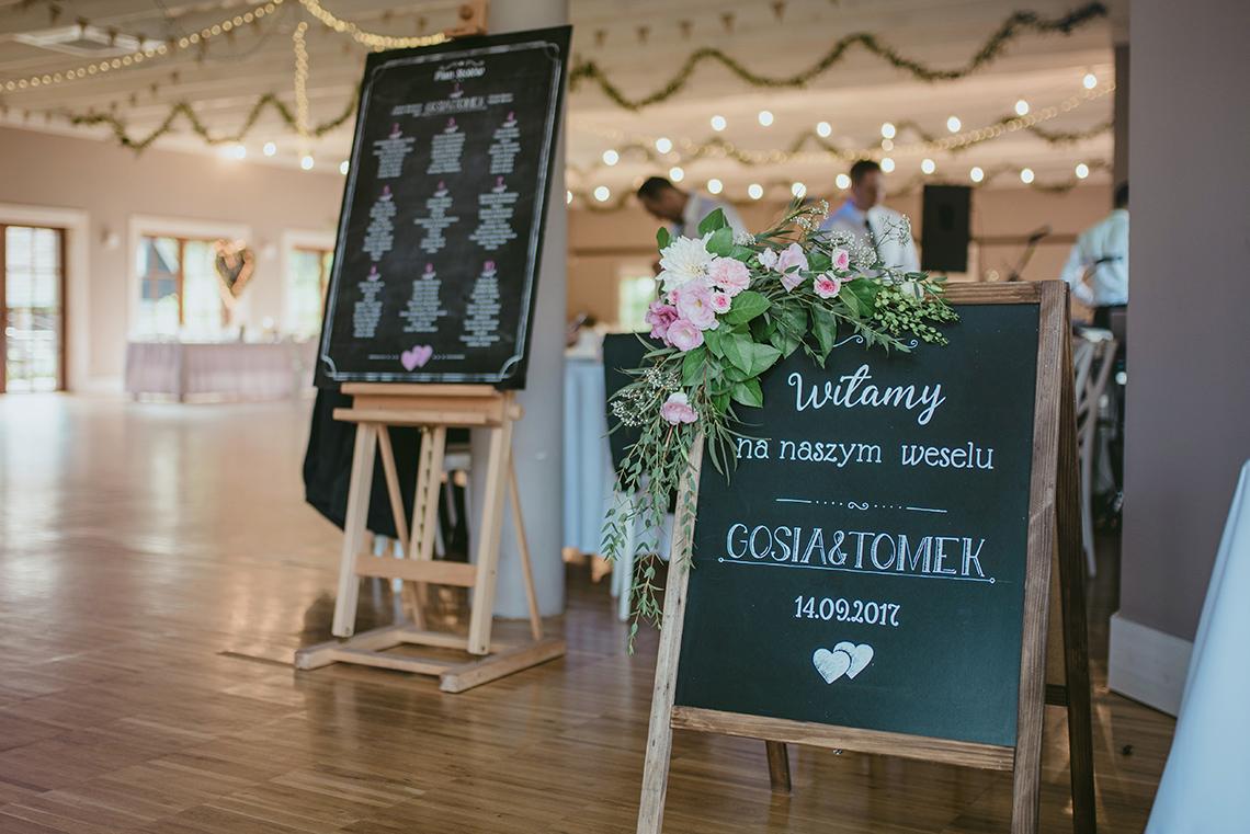 wejście do sali weselnej