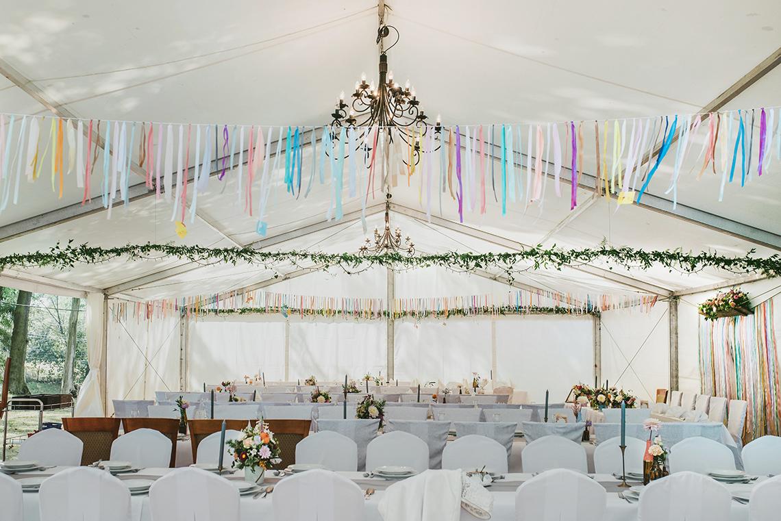 dekoracja w namiocie - wesele
