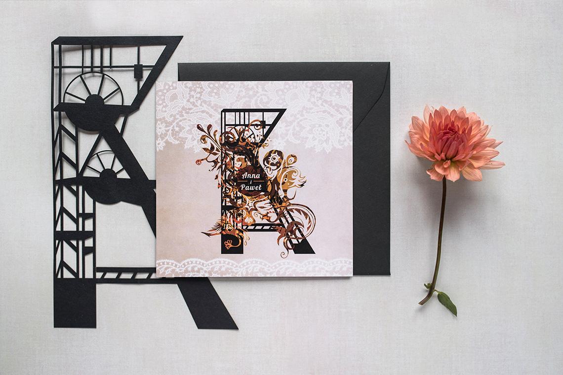 Śląskie zaproszenie ślubne - wersja jesienna