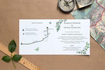 Mapy w zaproszeniach ślubnych. 2 typy podejścia do tematu i bardzo dużo inspirujących przykładów!