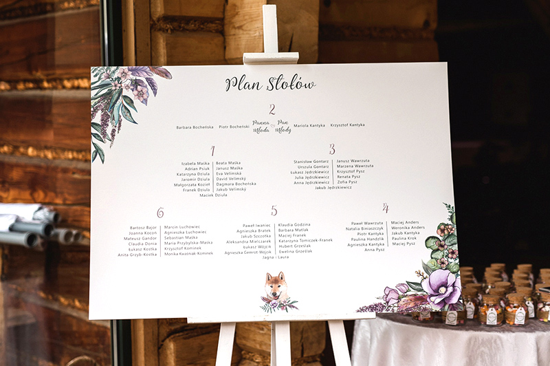 dodatki ślubne - plan stołów