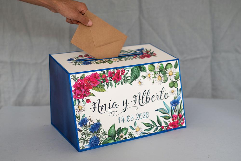 Kwiatowe pudełko na koperty
